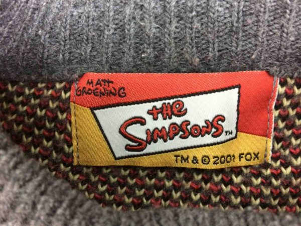 IMG 9415 scaled e1582120900182 - THE SIMPSONS Pullover Vintage 2001 Homer Fox