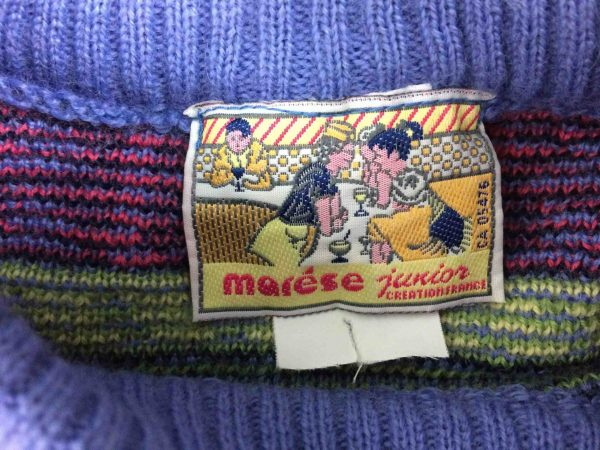 IMG 9702 scaled e1582120429206 - MARESE Pullover France Vintage 90s 30% Wool