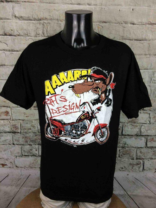 RAT'S DESIGN T-Shirt AAAARR! Vintage 90s 1990 - Gabba...