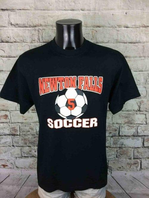 NEWTON FALLS SOCCER T Shirt #5 Jerzees Vintage Ohio USA Match Soccer Football