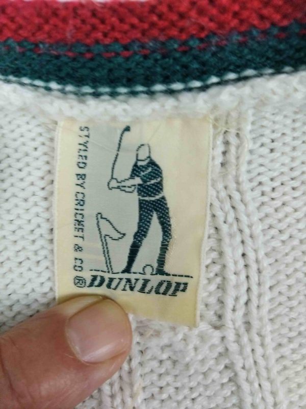 dunlop 1 - DUNLOP Pullover Vintage 80s Made Italy Laine