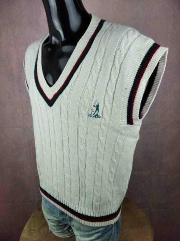 dunlop 3 - DUNLOP Pullover Vintage 80s Made Italy Laine