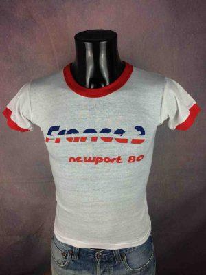 FRANCE 3 T-Shirt Vintage Newport 1980 Neuf - Gabba Vintage