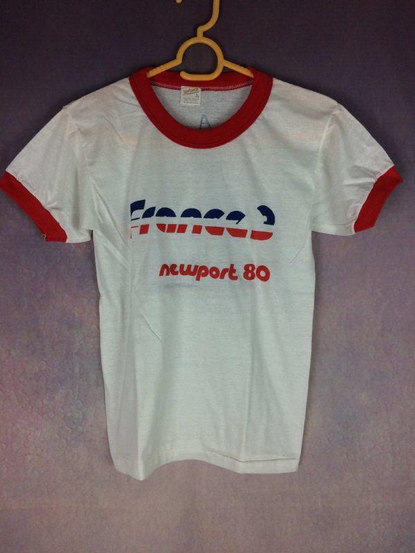 FRANCE 3 T Shirt Vintage Newport 1980 Neuf Gabba Vintage 3 - FRANCE 3 T-Shirt Vintage Newport 1980 Neuf