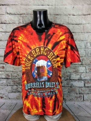 SUCK BANG BLOW T Shirt Murrells Inlet Biker Burnout Bar T America Tie Dye Flames