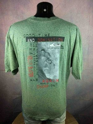 QUIKSILVER T Shirt Slater World Champion True Vintage 90s Good Time Domination