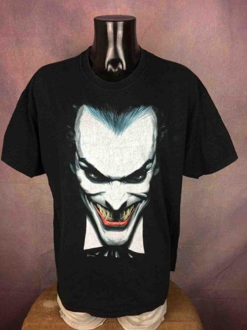 T-Shirt Vintage JOKER, Marque Hanes, Réalisé par Company Graphitti, Licence DC Comics, Véritable années 90, Made in Mexico,Taille XL, Couleur Noir, Heroe Design Film Movie Batman Homme