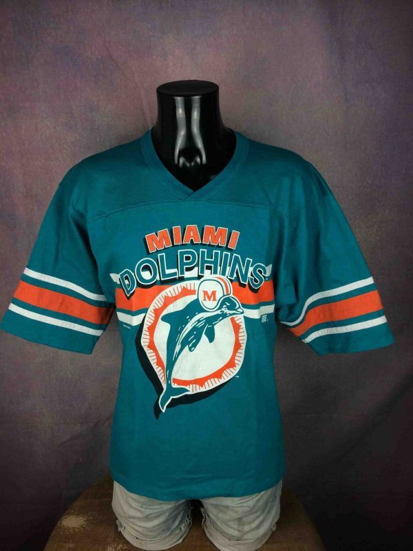 IMG 0540 compressed scaled - MIAMI DOLPHINS T-Shirt Vintage 90s 1995 NFLP