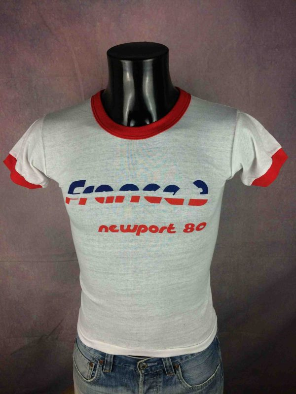 IMG 0712 compressed scaled - FRANCE 3 T-Shirt True Vintage 1980 NOS Neuf