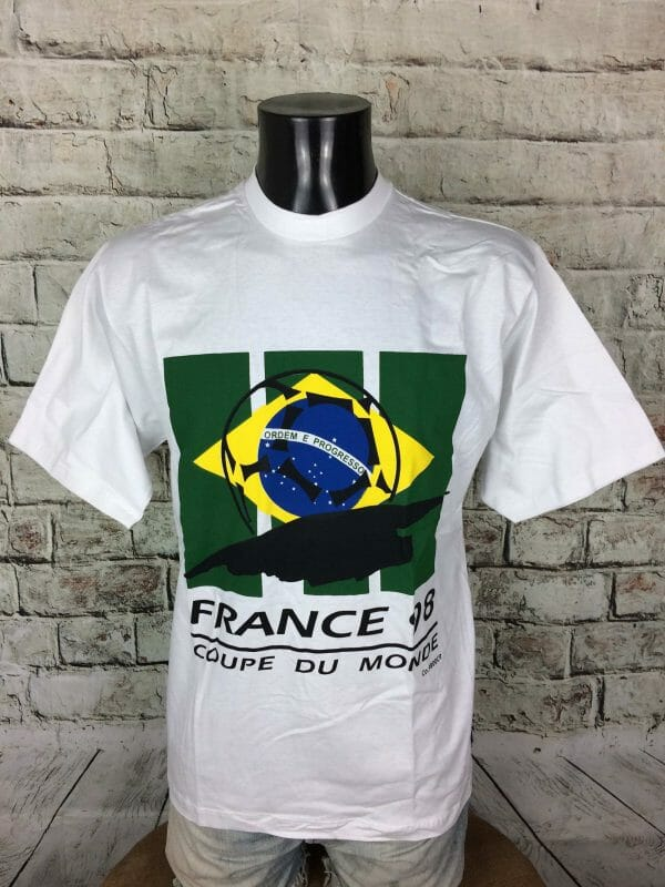 IMG 0773 compressed scaled - BRASIL T-Shirt France 98 True Vintage NOS
