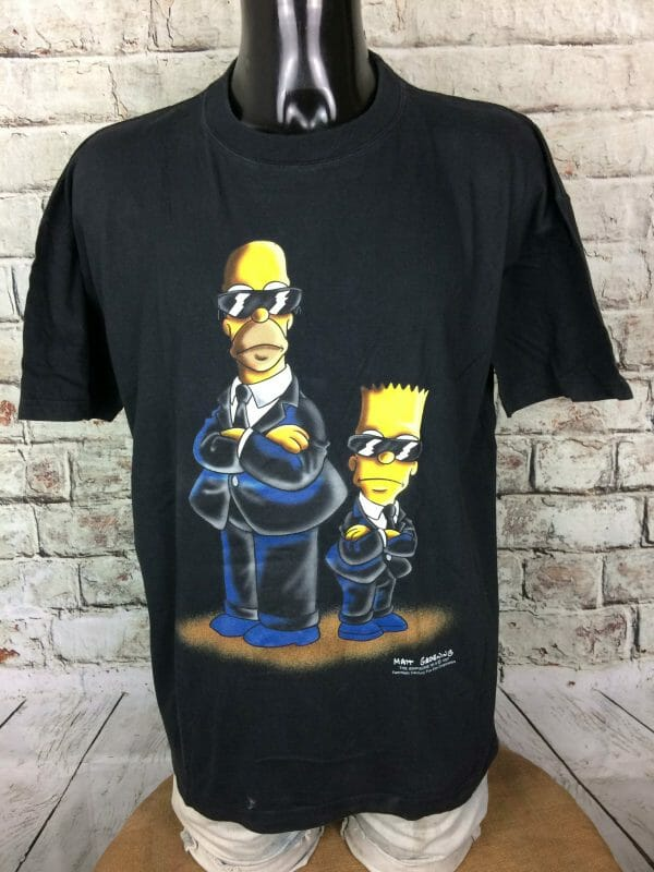 IMG 0778 compressed scaled - THE SIMPSONS T-Shirt Men In Black VTG 1997