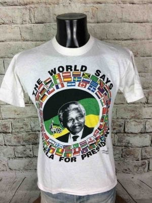 MANDELA FOR PRESIDENT T-Shirt VTG Early 90s - Gabba Vin