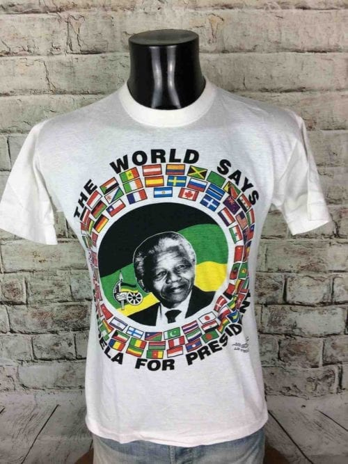 MANDELA FOR PRESIDENT T-Shirt VTG Early 90s - Gabba Vin