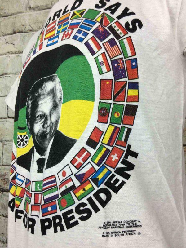 IMG 0785 compressed scaled - MANDELA FOR PRESIDENT T-Shirt Vintage 90s