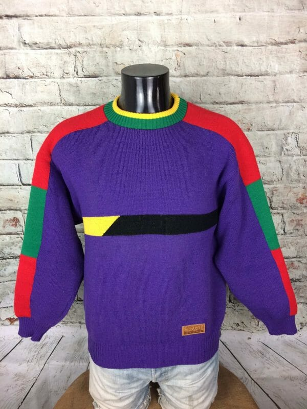 IMG 0893 compressed scaled - ZERO DEGRÉ Pullover Vintage 90s France Made