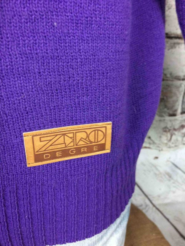 IMG 0894 compressed scaled - ZERO DEGRÉ Pull Vintage Made in France Ski