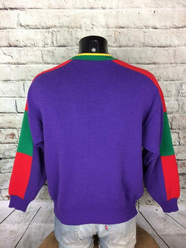IMG 0896 compressed scaled - ZERO DEGRÉ Pullover Vintage 90s France Made