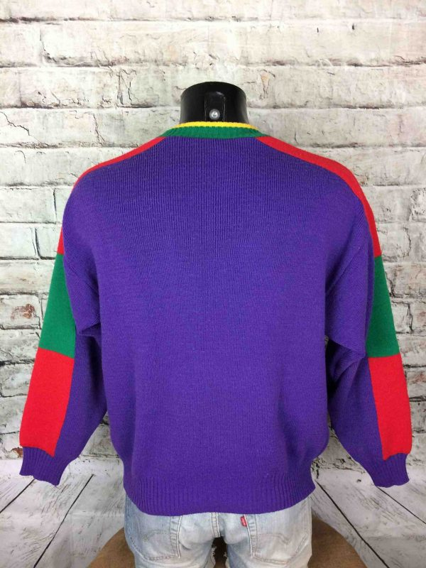 IMG 0896 compressed scaled - ZERO DEGRÉ Pull Vintage Made in France Ski