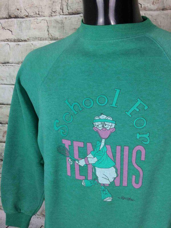 IMG 1006 compressed scaled - SPITFIRE Sweatshirt Tennis School VTG 80s