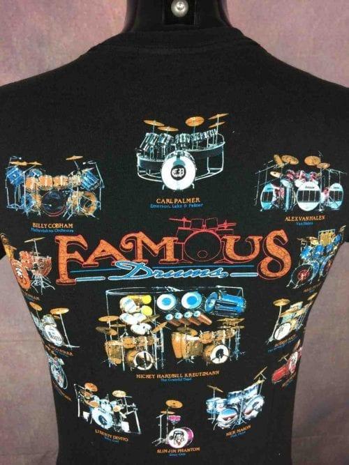 Famous Drums T-Shirt Beatles Led Vintage 90s
