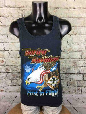 T-ShirtHARLEY DAVIDSON, Licence Officielle HD, véritable vintage années 90s, Marque Fun Wear Inc, Jim Junkala, USA MotoBiker