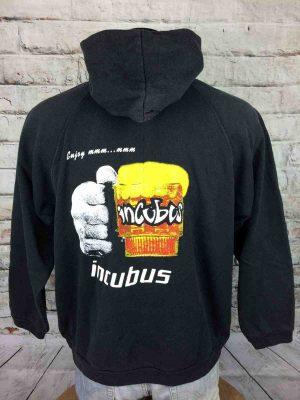 INCUBUS Sweatshirt Enjoy EP 1997 True Vintage 90s Capuche Hood Trefoil Rock Rare