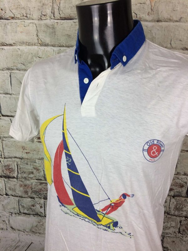 Old River 3 - OLD RIVER Polo Vintage 80s Made in Italy