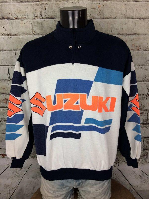 SUZUKI Team Sweatshirt Vintage 90s Motors - Gabba Vintage