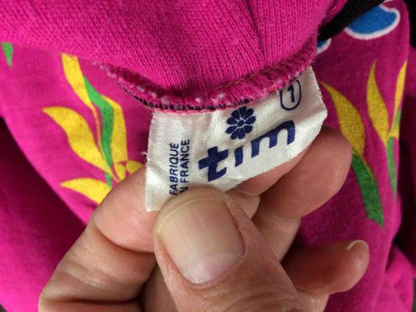 TIM SweatShirt Vintage 90s Made in France Gabba Vintage 1 rotated - TIM Sweat Vintage 90s Made in France Rose