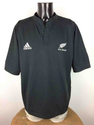 ALL BLACKS Maillot Jersey 2003 2005 Home Adidas New Zealand Rugby XV World Cup - Gabba Vintage