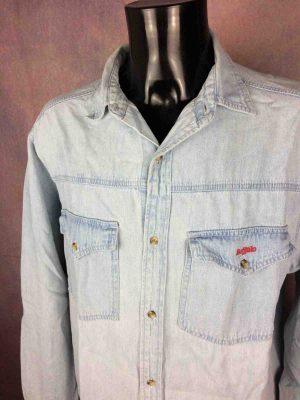 BUFFALO Chemise Jeans Denim True Vintage 90s - Gabba Vintage