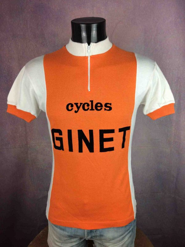 CYCLES GINET Maillot France True Vintage 70s - Gabba Vintage