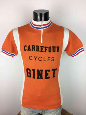 CYCLES GINET Maillot France Vintage 70s - Gabba Vintage