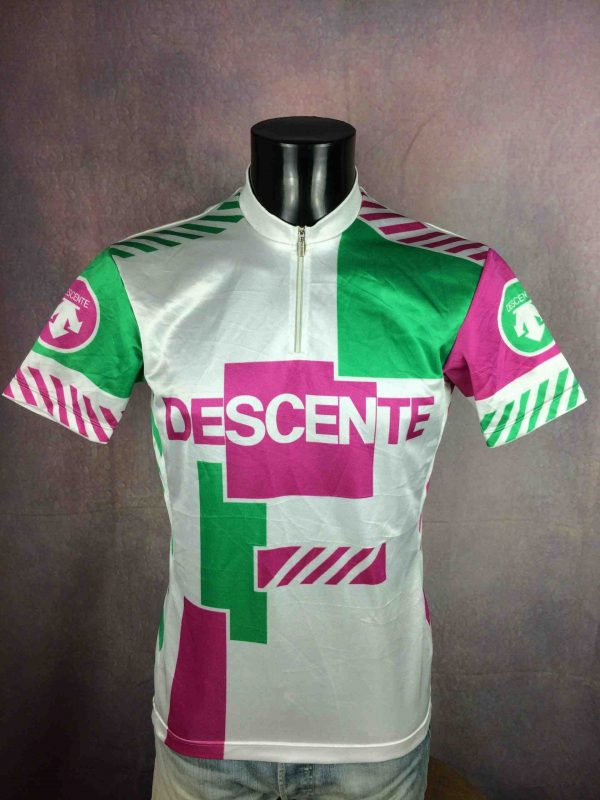 DESCENTE Camiseta Jersey Maillot Maglia Made in Japan True Vintage 90s Design