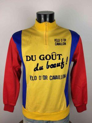 DU GOUT DU BOEUF! Sweat Maillot Vintage 80s - Gabba Vintage