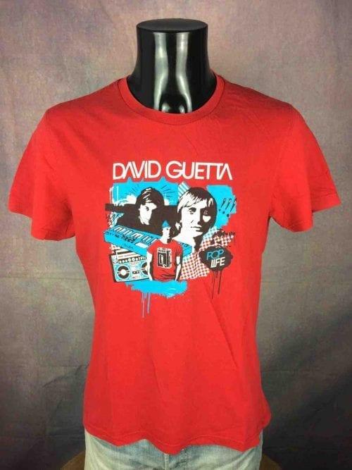 David Guetta T-Shirt Pop Life 2007 Techno - Gabba Vintage