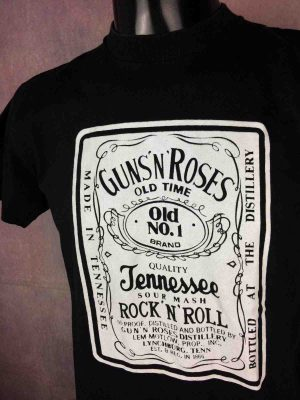 T-Shirt GUNS N ROSES, mention Made In Tennessee, Sour Mash, Véritable vintage années 90s, de marque Vision, Rock True Vintage Old 1