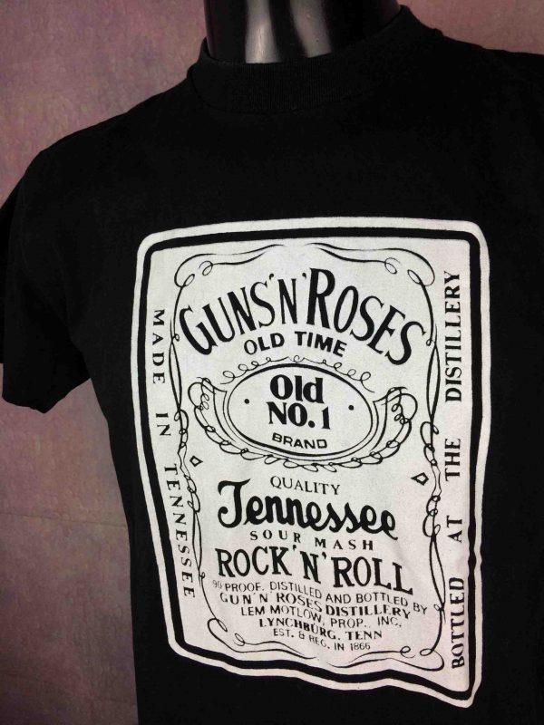 T-Shirt GUNS N ROSES, mention Made In Tennessee, Sour Mash, Véritable vintage années 90s, de marque Vision, Rock True Vintage Old 1