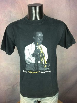 Louis Armstrong T-Shirt Satchmo Vintage 2001 - Gabba Vintage