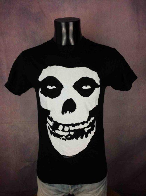 T-Shirt MISFITS, licence officielle, double face avec visuel mythique du groupe, de marque Alstyle, daté de 2009, Big Skull Fiend Horror Punk Rock Halloween