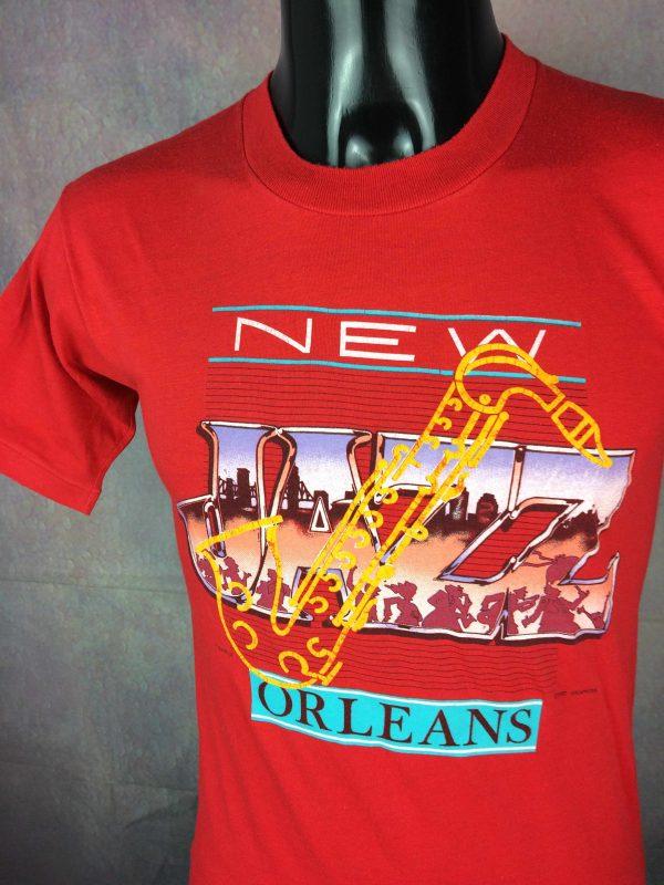 NEW ORLEANS JAZZ T Shirt Vintage 1987 USA Gabba Vintage 2 1 scaled - NEW ORLEANS JAZZ T-Shirt Vintage 1987 USA