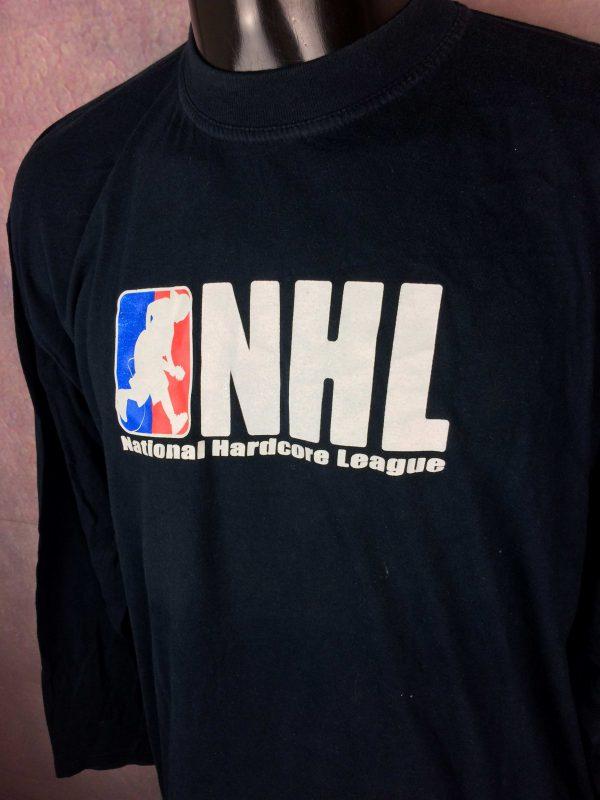 National Hardcore League T-Shirt Vintage 00s - Gabba Vintage