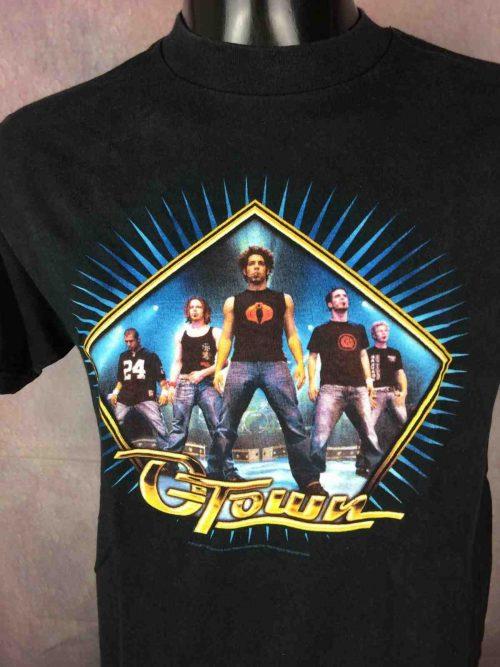 T-Shirt O TOWN, véritable vintage année 2002, licence officielle MTV Networks, de marque Hyland, Reality TV Serie American Boy Band
