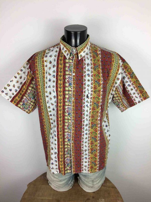Chemise Provence Vintage, Marque PATKO, Boutons Nacres, Années 90, Made in France, CamargueGardian Sud Feria Homme