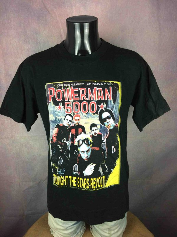 POWERMAN 5000 T Shirt Star Tour 2000 Vintage Gabba Vintage 2 scaled - POWERMAN 5000 T-Shirt Star Tour 2000 Vintage