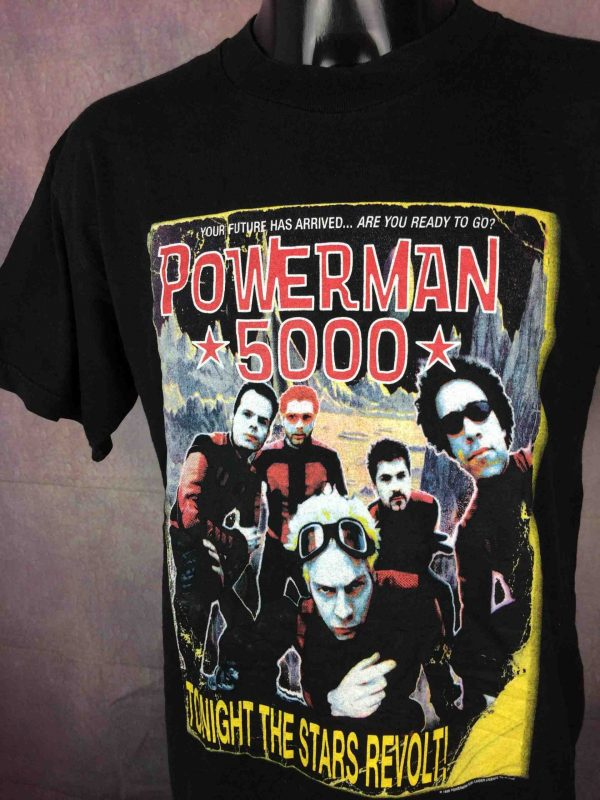 POWERMAN 5000 T Shirt Star Tour 2000 Vintage Gabba Vintage 3 scaled - POWERMAN 5000 T-Shirt Star Tour 2000 Vintage