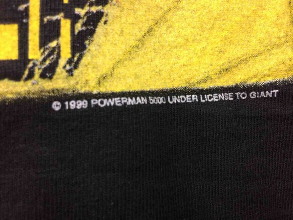 POWERMAN 5000 T Shirt Star Tour 2000 Vintage Gabba Vintage 4 scaled - POWERMAN 5000 T-Shirt Star Tour 2000 Vintage