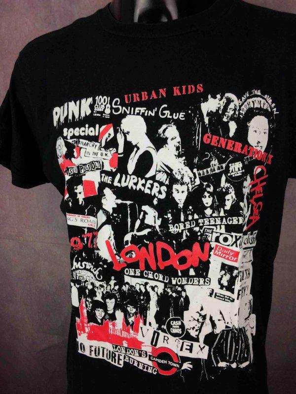 T-Shirt PUNK, véritable vintage années 80s, visuels et groupes punk première vague Sid Vicious Lurkers Gen X Sex Pistols Damned Chelsea