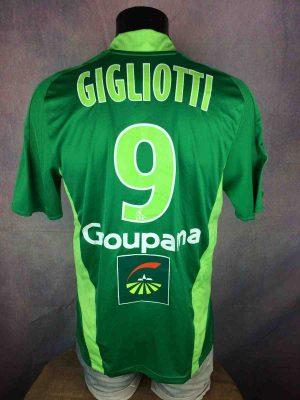 SAINT ETIENNE Maillot 9 Gigliotti 2008 2009 - Gabba Vintage