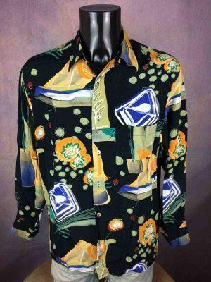 SOKAINA Chemise Vintage 80s Design Psyche - Gabba Vintage